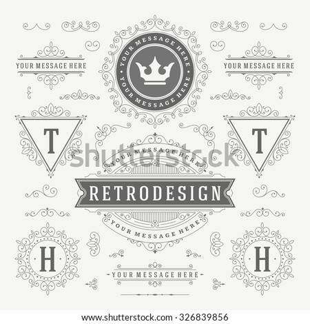 stock-vector-vintage-vector-ornaments-decorations-design-elements-flourishes-calligraphic-combinations-retro