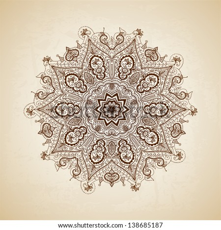vintage vector pattern hand