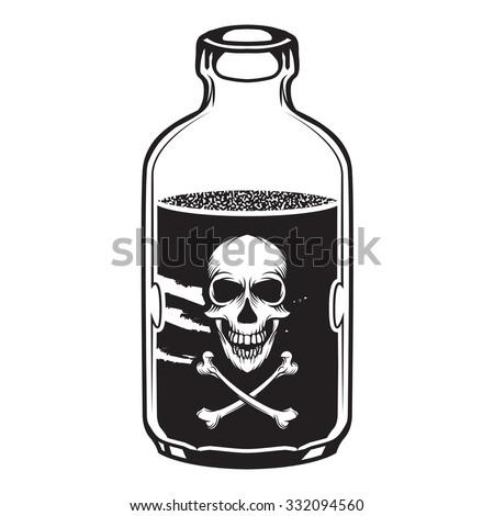 vintage vector poison bottle