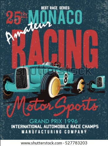 vintage vector race poster