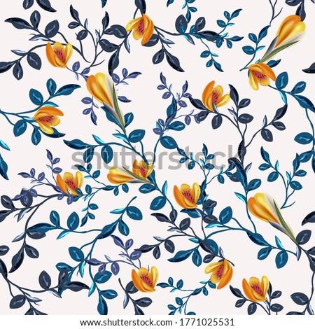 vintage vector seamless floral