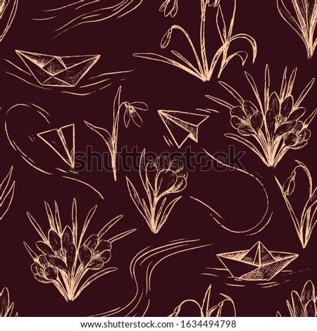 vintage vector seamless pattern