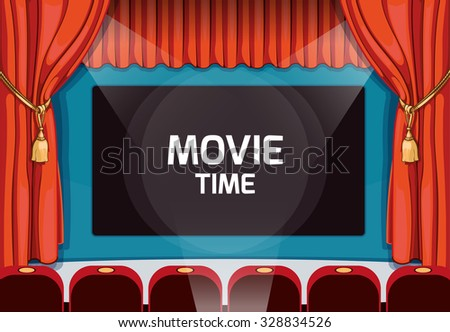 vintage vector theater stage