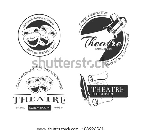 vintage vector theatre labels ...