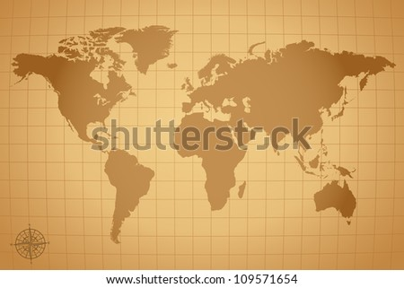 Vintage world map vector download free vector art stock graphics vintage vector world map illustration gumiabroncs Images