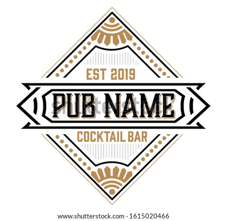 Vintage Vintage Pub Logo. Vector layered