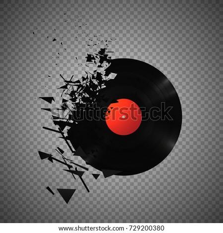 vintage vinyl records broken