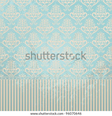 vintage wallpaper in grunge
