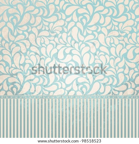 Vintage wallpaper in grunge style. Grunge effect can be removed. EPS 8 vector illustration.