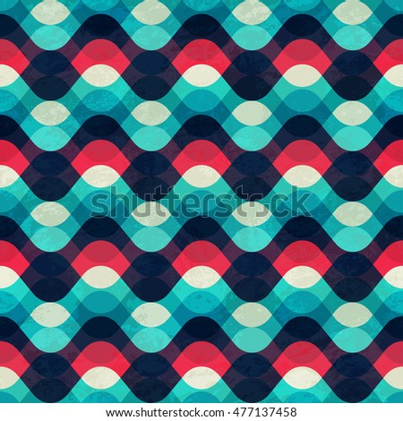 vintage wave seamless pattern