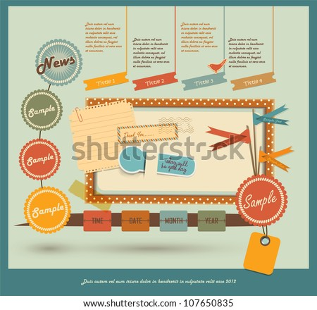 Vintage Web design elements - stock vector