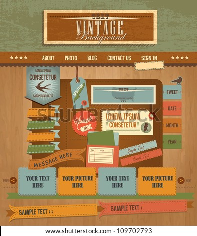 Vintage Web design elements 2