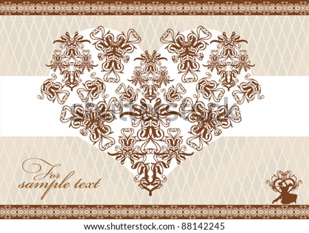 stock vector Vintage wedding background
