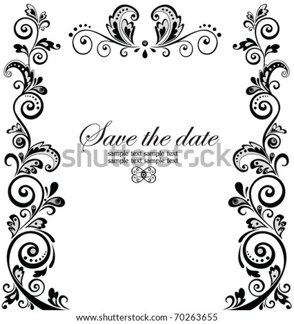 stock vector Vintage wedding border