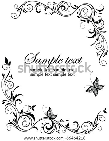 stock vector Vintage wedding design