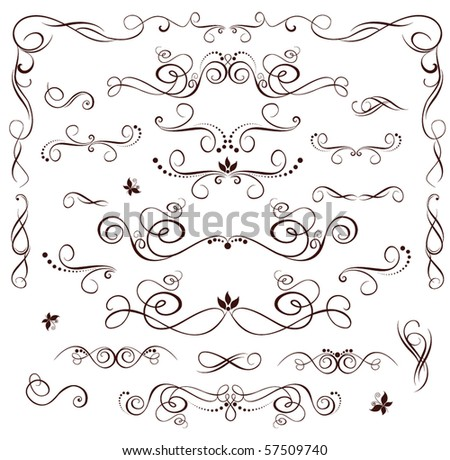 stock vector Vintage wedding heading