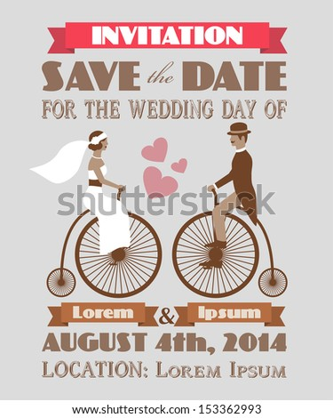 Vintage wedding invitation 2