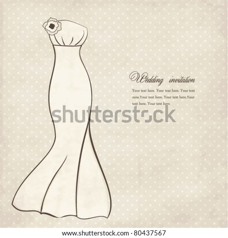 stock vector Vintage wedding invitation