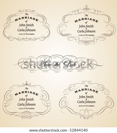 Vintage Wedding Invitation Frames