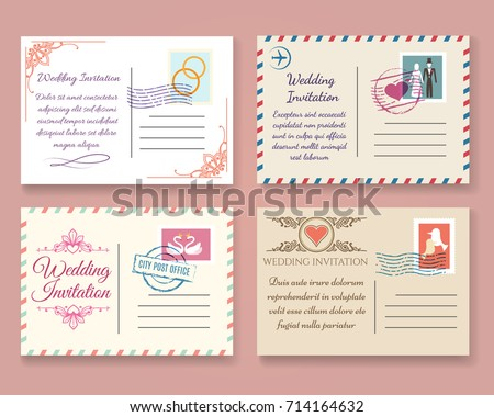 Bogor indonesia postcard vector download free vector art stock vintage wedding postcard vector templates old vector marriage invitation postale cards for scrapbook or save stopboris Image collections