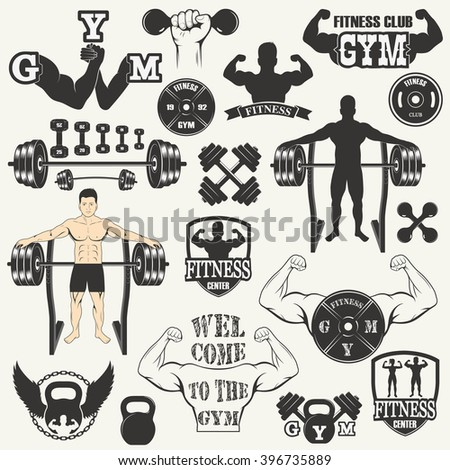 vintage weight lifting labels