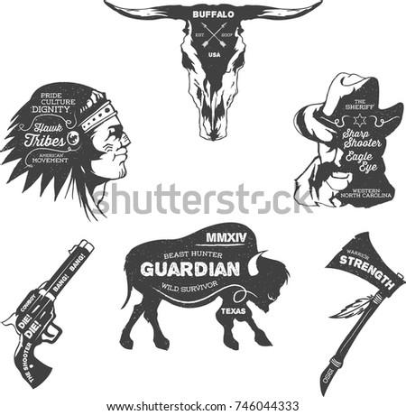 vintage western cowboy indian