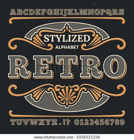 vintage western 3d typography....