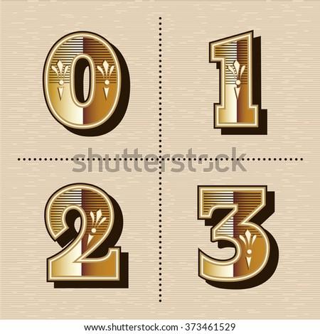 vintage western numbers...