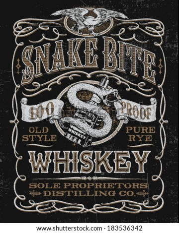vintage whiskey label t shirt