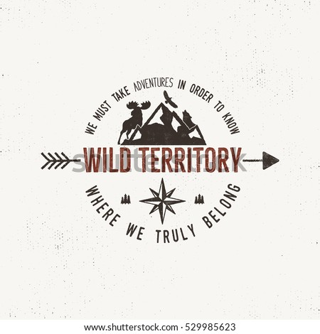 vintage wild emblem retro