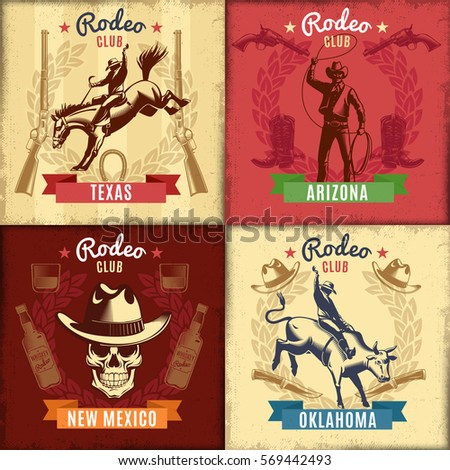 vintage wild west emblems with