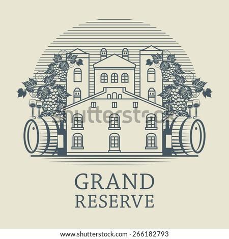 vintage wine label  vector