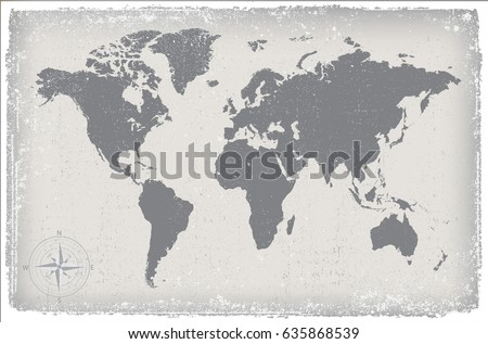 Vintage world map.Grunge map of the world. #635868539