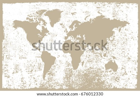 Vintage world map.Map of the world in grunge style.