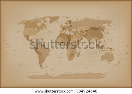 vintage world map. vector...