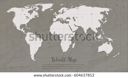 Free vector world map with shadows download free vector art stock vintage world map world map silhouette vector gumiabroncs Images