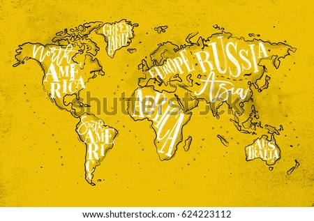 South america map vector download free vector art stock graphics vintage worldmap with inscription greenland north south america africa europe asia gumiabroncs Images