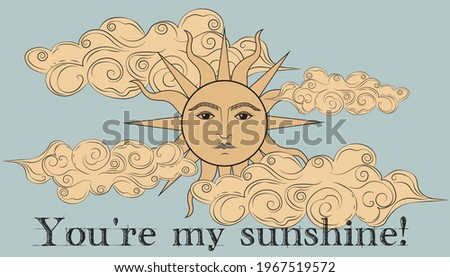 vintage you are my sunshine