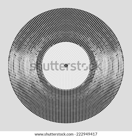 vinyl dots halftone effect in