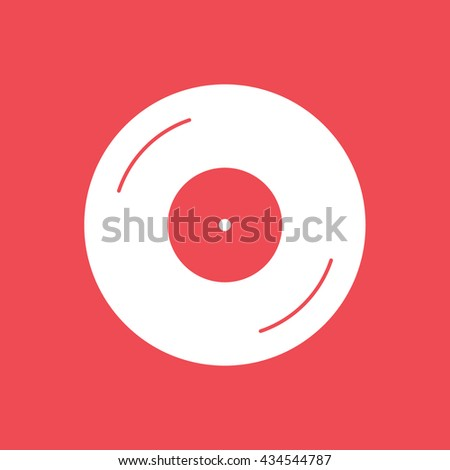 vinyl flat icon on red