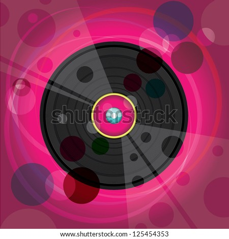 Vinyl record , DJ poster - stock vector