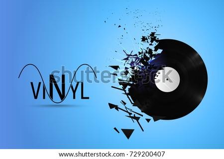 vinyl record exploded into