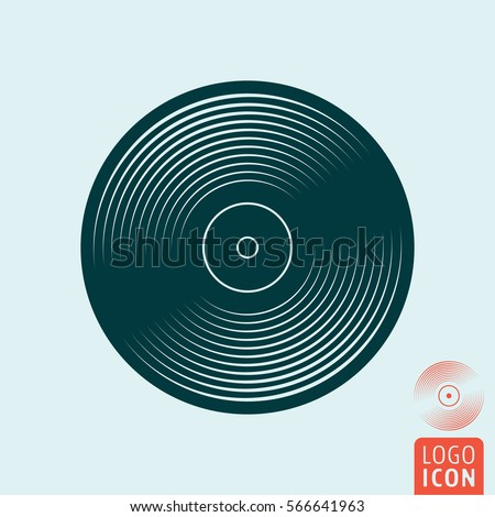 vinyl record icon music plate