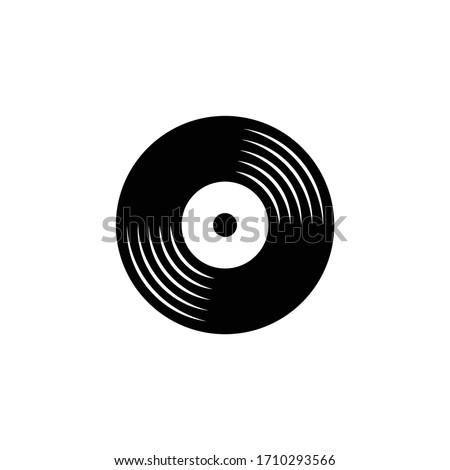 vinyl record logo icon vector