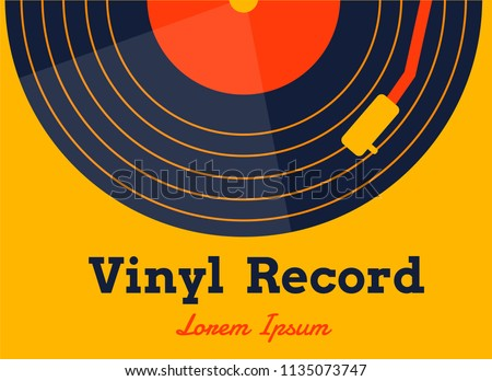 vinyl record music vector with