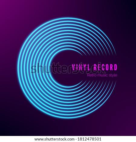 vinyl record neon colors