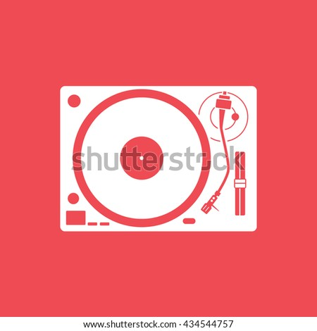 vinyl record player flat icon