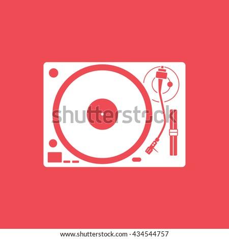 vinyl record player flat icon