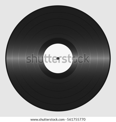 Vinyl record. Retro sound carrier. Plate for DJ Scratch. Vector illustration.