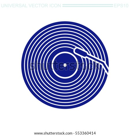 vinyl record vector icon